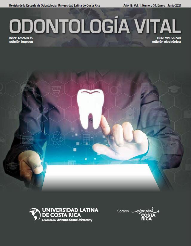 Ver Vol. 1 Núm. 34 (2021): Odontología Vital, Núm 34, Enero - Junio 2021